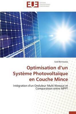 Optimisation d un Systeme Photovoltaique en Couche Mince