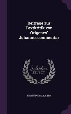 Beitrage Zur Textkri...
