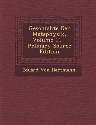 Geschichte Der Metaphysik, Volume 11