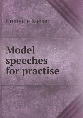Model Speeches for Practise