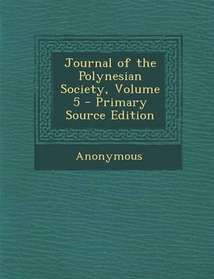 Journal of the Polynesian Society, Volume 5