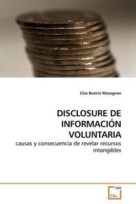 Disclosure De Informacin Voluntaria