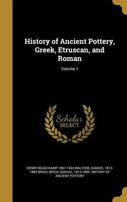 HIST OF ANCIENT POTTERY GREEK