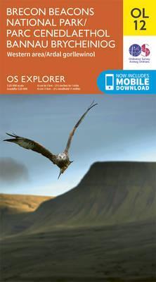 OS Explorer OL12 Brecon Beacons National Park - Western & Central areas