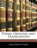 Poems, Original and Translations