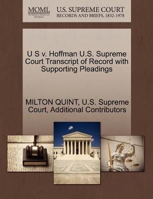 U S V. Hoffman U.S. Supreme Court Transcript of Record with Supporting Pleadings