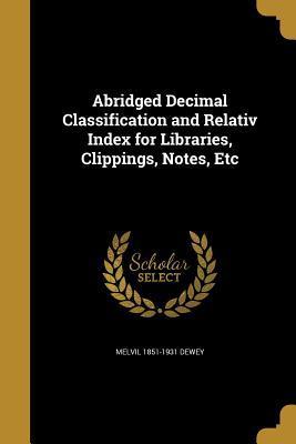ABRIDGED DECIMAL CLASSIFICATIO