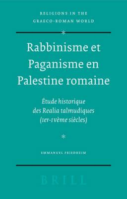 Rabbinisme Et Paganisme En Palestine Romaine