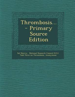 Thrombosis...