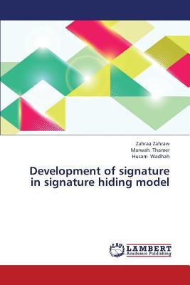 Development of signature in signature hiding model