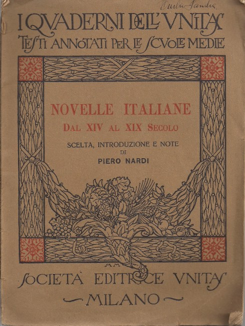 Novelle italiane dal XIV al XIX secolo