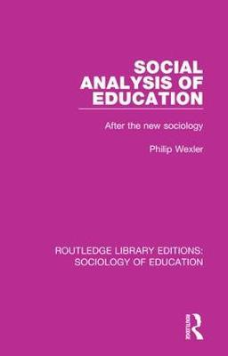 Social Analysis of Education