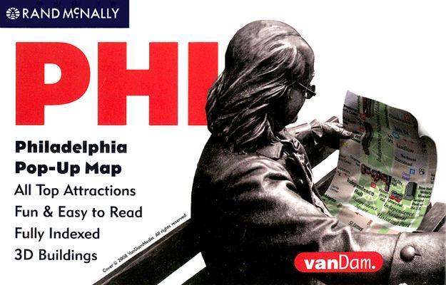 Vandam Philadelphia, Pennsylvania Pop-Up Map