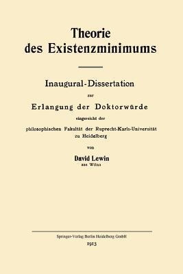 Theorie des Existenzminimums