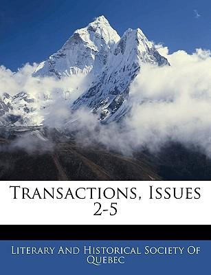 Transactions, Issues 2-5