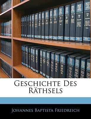 Geschichte Des Räthsels