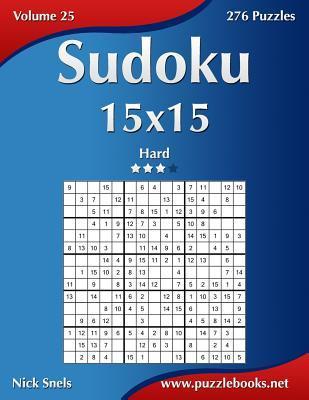 Sudoku 15x15 - Hard - 276 Puzzles