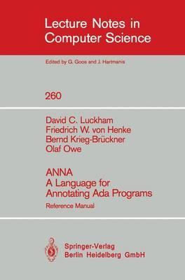 Anna a Language for Annotating Ada Programs