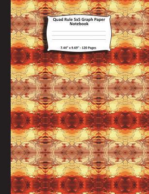 "Quad Rule 5x5 Graph Paper Notebook. 7.44"" x 9.69"". 120 Pages"