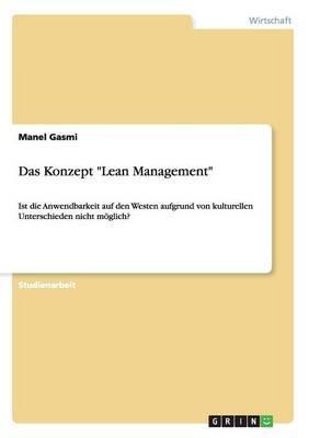 """Das Konzept """"Lean Management"""""""