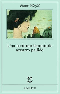 Una scrittura femminile azzurro pallido