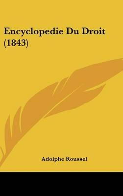 Encyclopedie Du Droit (1843)