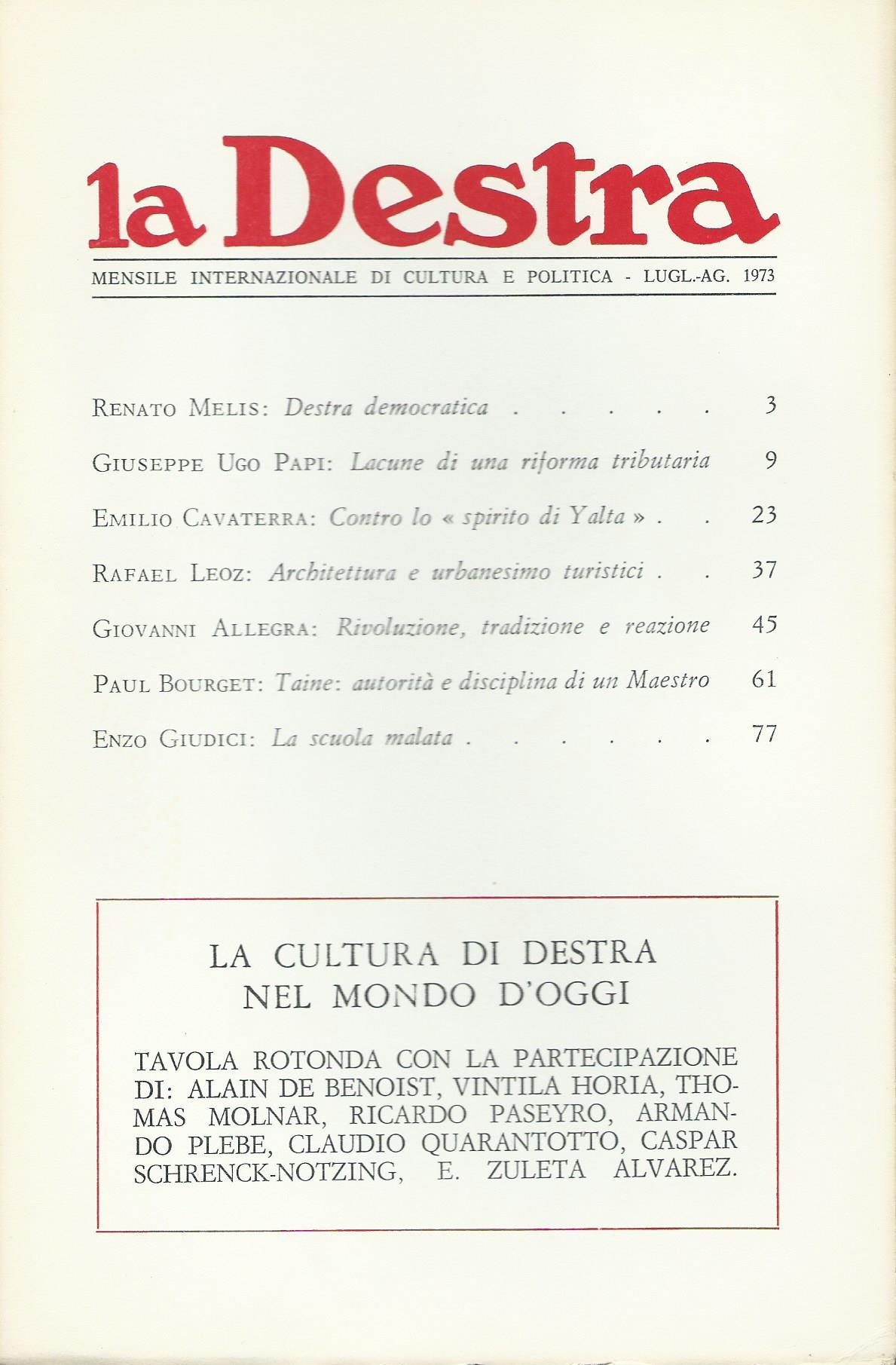 La Destra - Anno III n. 7/8