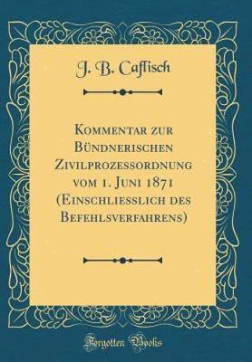 Kommentar zur Bündnerischen Zivilprozessordnung vom 1. Juni 1871 (Einschließlich des Befehlsverfahrens) (Classic Reprint)