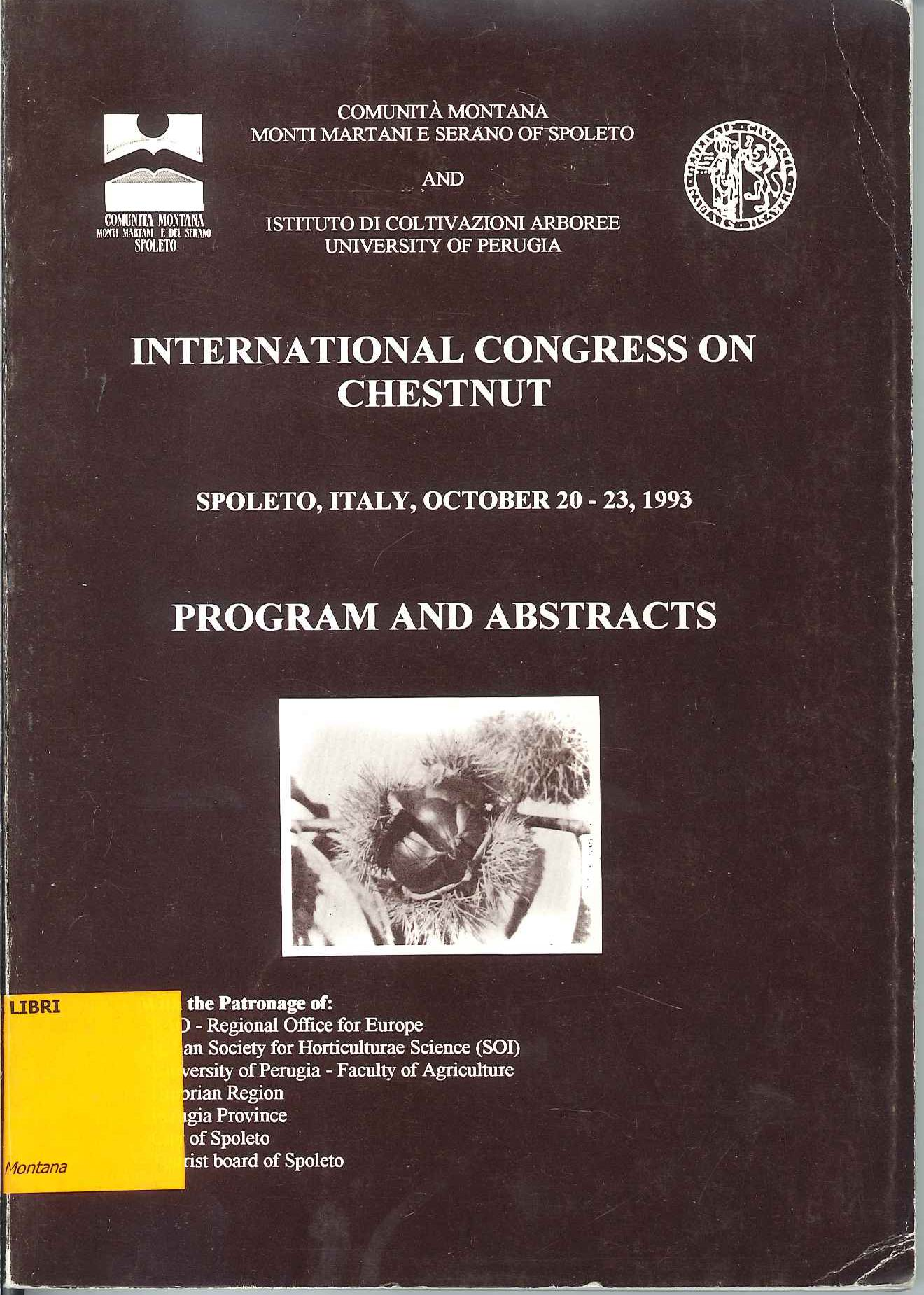 International Congress on Chestnut: Program and Abstracts