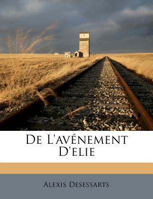 de L'Av Nement D'Elie