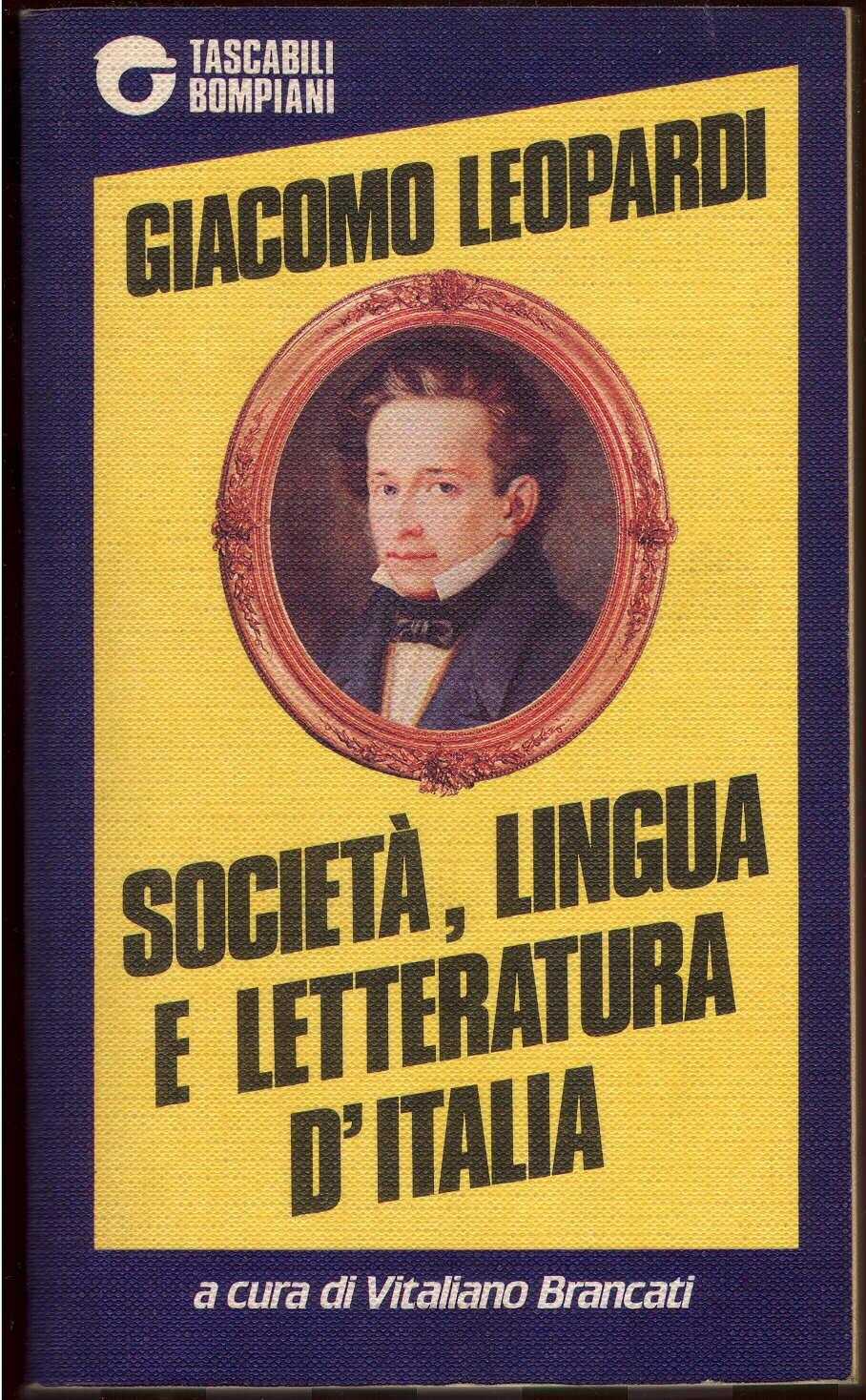 Società, lingua e letteratura d'Italia