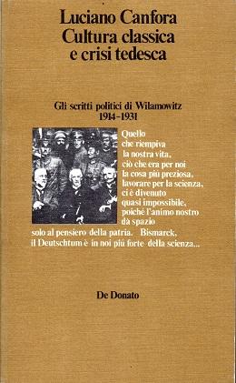 Cultura classica e crisi tedesca