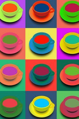 Colorful Cups and Saucers Pop Art Journal