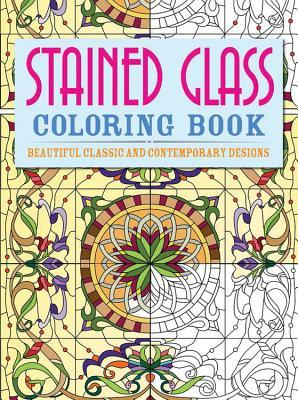 Stained Glass Adult Coloring Book
