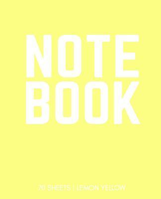 Lemon Yellow Notebook