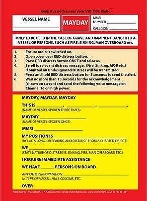 VHF DSC Mayday Proce...