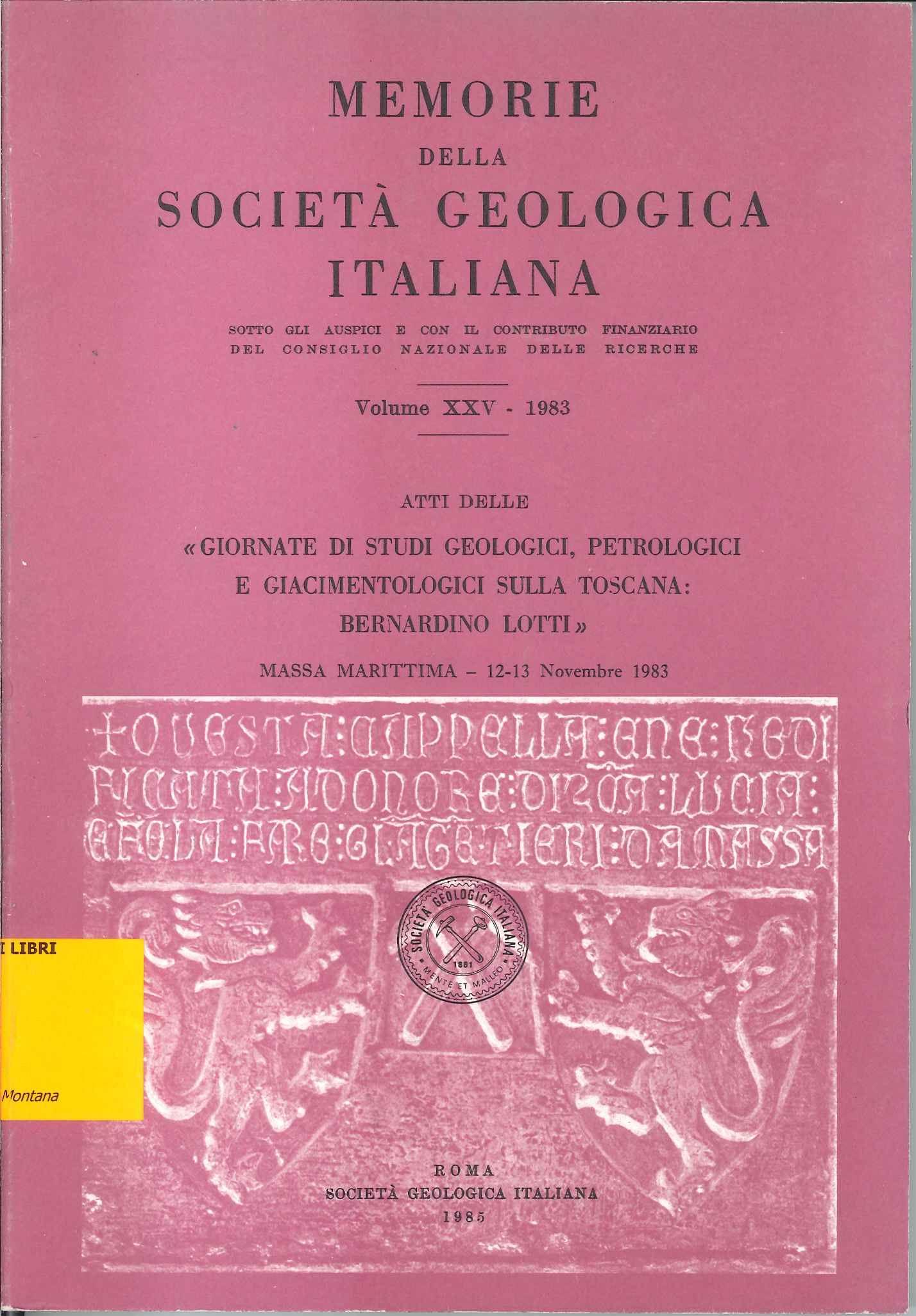 Memorie della Societa geologica italiana, n. 25