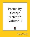 Poems by George Meredith Volume 3