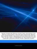 Articles on Short Stories by Orson Scott Card, Including