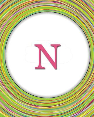 N - Circles Monogram Notebook / Journal / Diary Celebrating Friends & Friendship Û Cute Monogrammed Gift