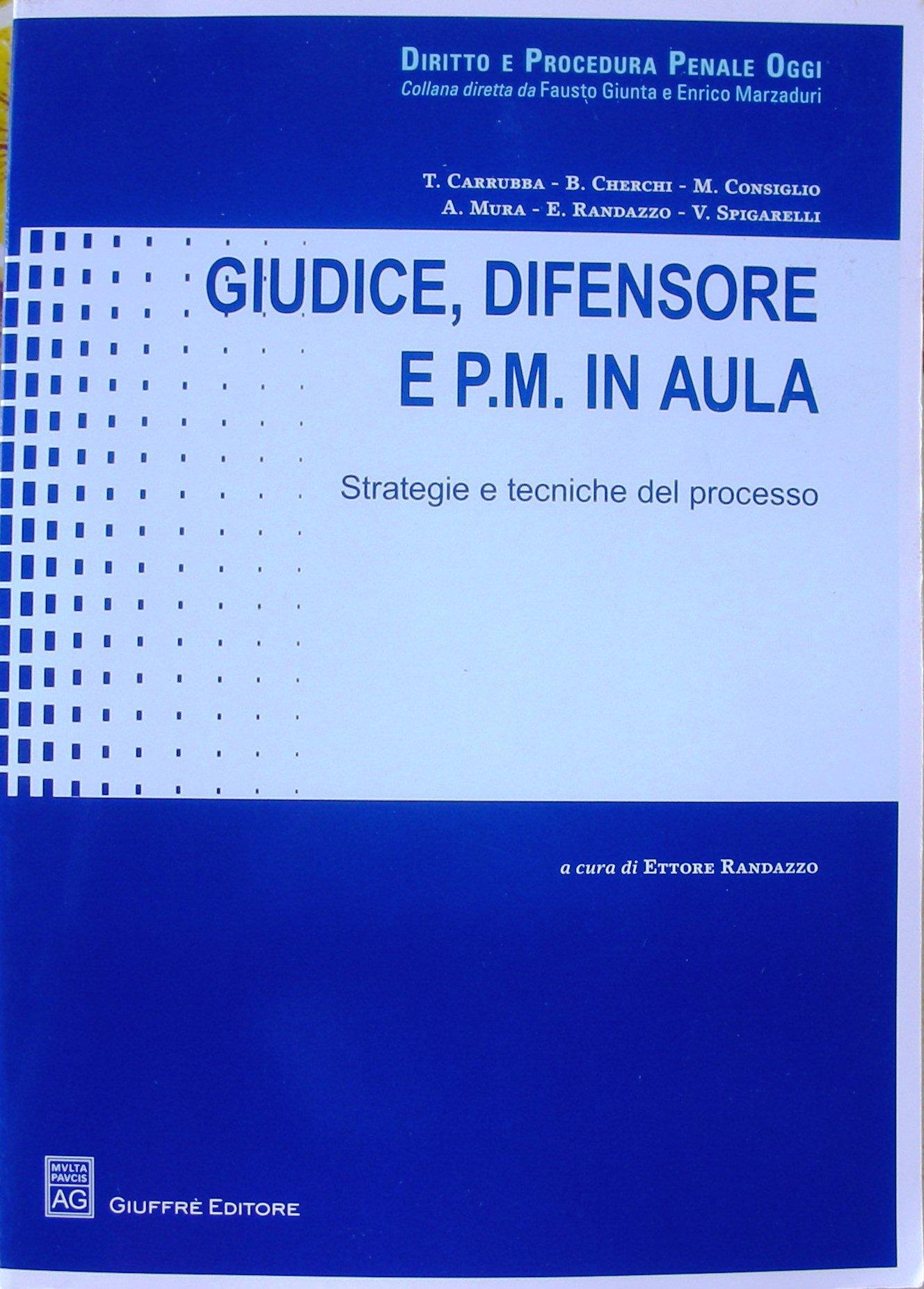 Giudice, difensore e P.M. in aula. Strategie e tecniche del processo