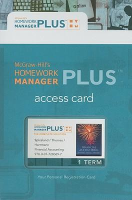 Financial Accounting Homework Manager Plus Pass Code