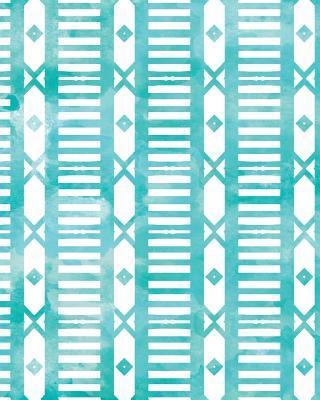 Blue Watercolor Geometric Pattern Notebook