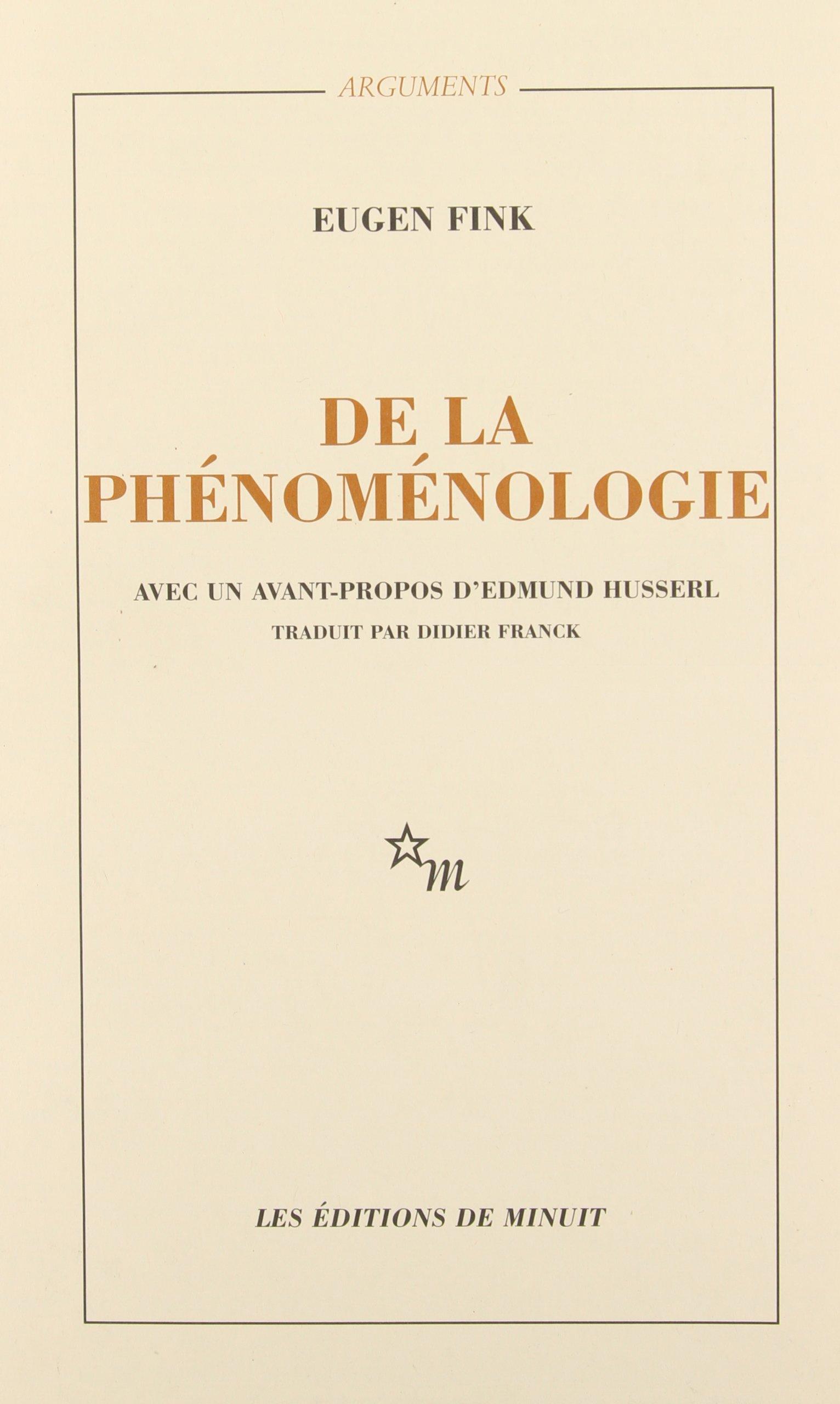 De la phénoménologie