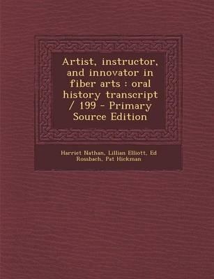 Artist, Instructor, and Innovator in Fiber Arts