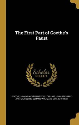 1ST PART OF GOETHES FAUST