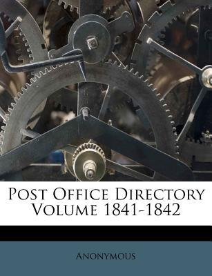 Post Office Directory Volume 1841-1842