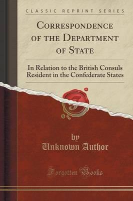 Correspondence of the Department of State