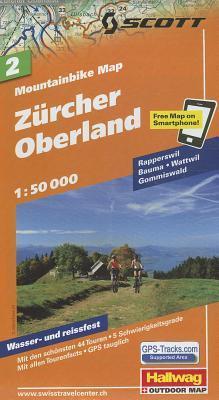 Hallwag Zurcher Oberland Road Map