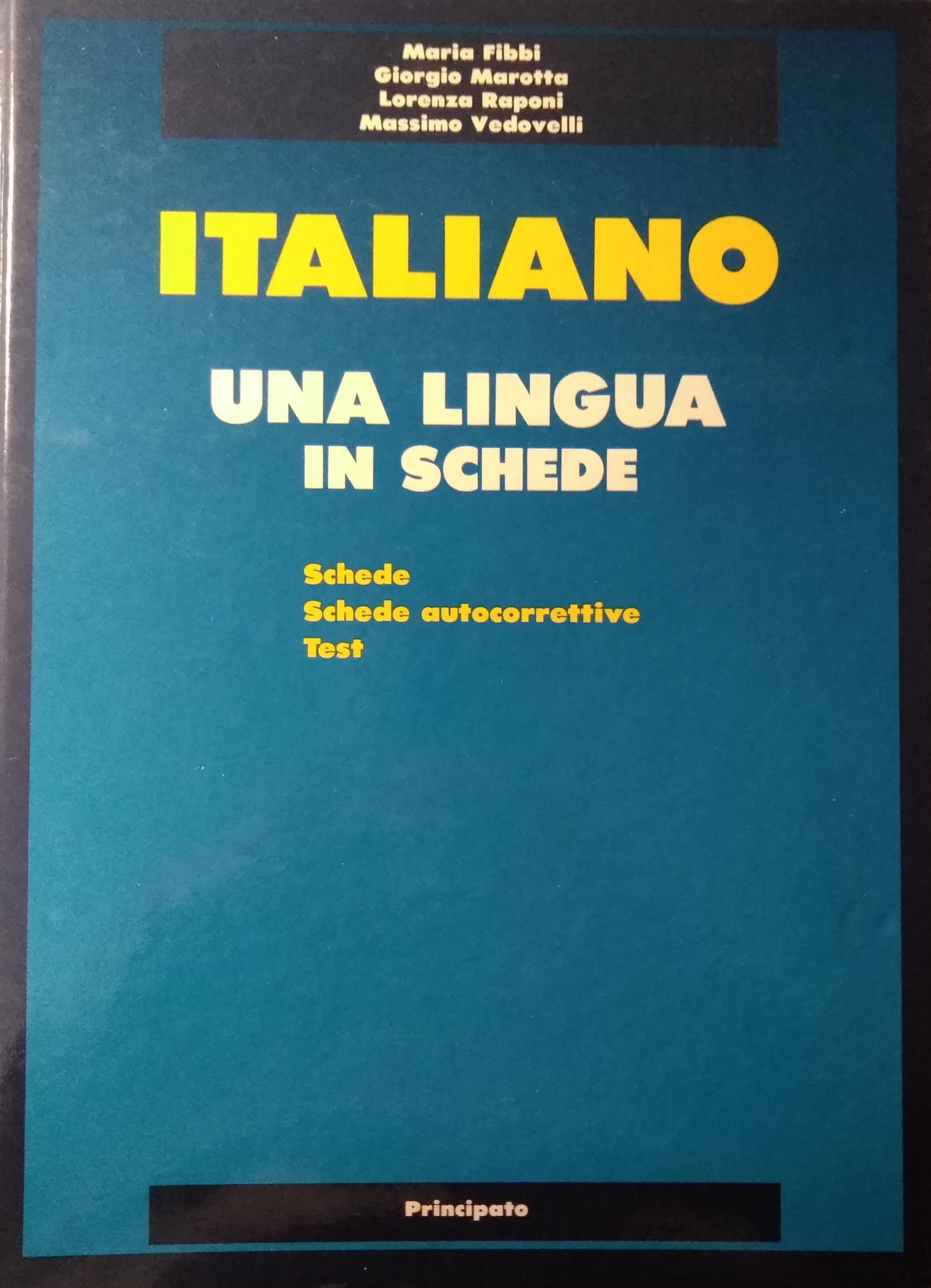Italiano: una lingua in schede